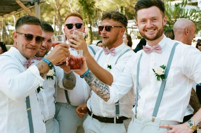 Thisrty work - Aidan and Becca's wedding - Kodak Portra 400 - Ted Smith