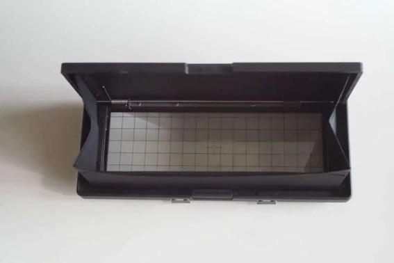 Fuji Panorama GX617 Camera Review - Ground glass focusing screen (open)