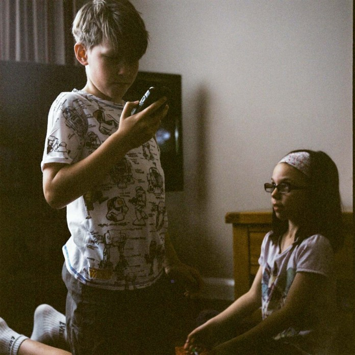 Nephew and Niece - Kodak Portra 400