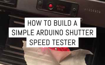 Cover - How to build a simple Arduino shutter speed tester - by Ethan Moses