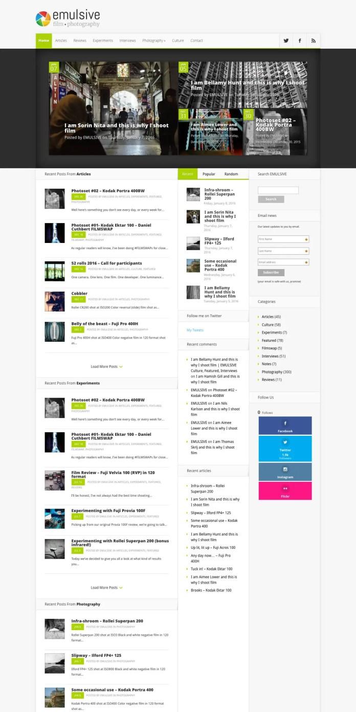 EMULSIVE v1 Home Desktop