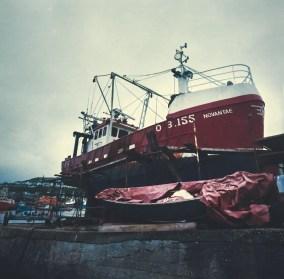 Hasselblad 903 SWC images - Boatyard - Kodak Portra 400