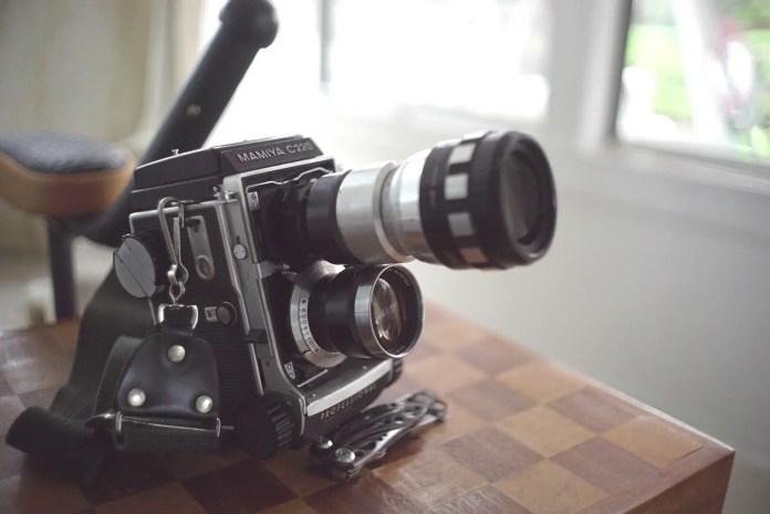 Mamiya C220 TLR Anamorphic lens mod