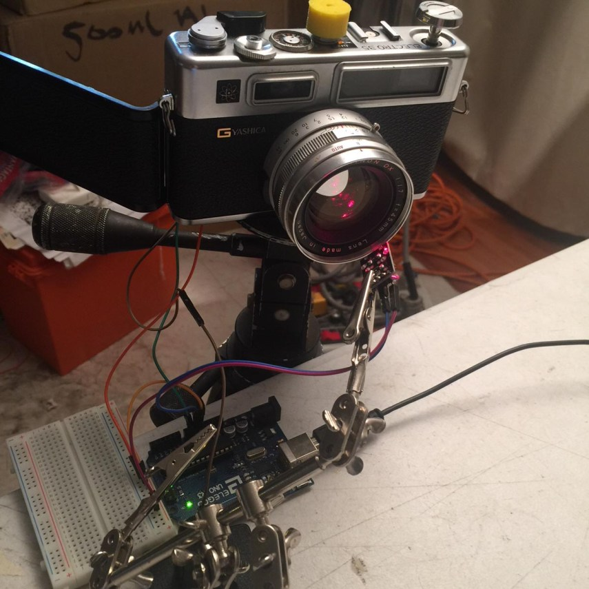 My Arduino shutter tester setup - LASERS AHOY!