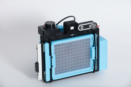 CAMERADACTYL OG 4x5 ground glass (grid) with sheet film holder installed