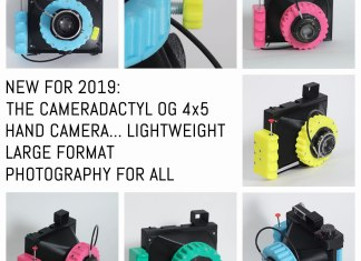 Cover - the CAMERADACTYL OG 4x5 hand camera - lightweight large format photography for all