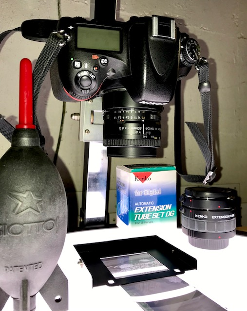 Digitization with a Nikon D610, Nikkor 50mm f1-8 and extension tubes