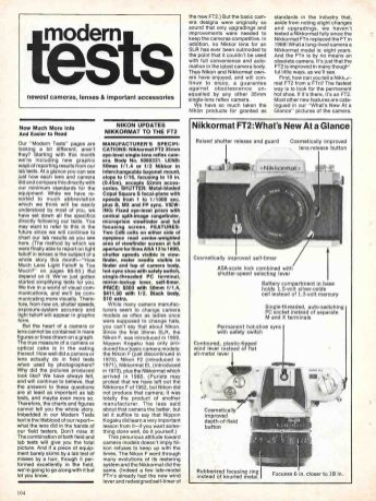 Nikkormat FT2 article