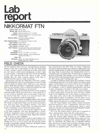 Nikkormat FTN article