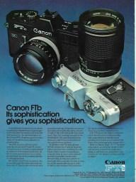 Canon FTb advert