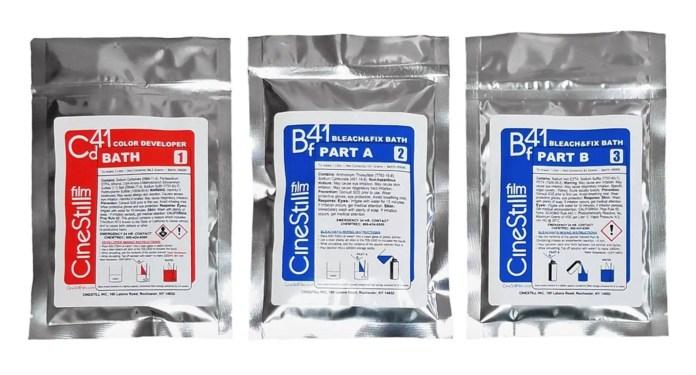 CineStill Cs41 powder bags