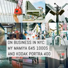 Cover - Photoset, on business in NYC with the Mamiya 645 1000s and Kodak Portra 400