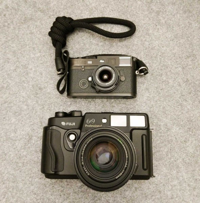 Fuji GW690III and Leica M6 TTL compared - Stacked