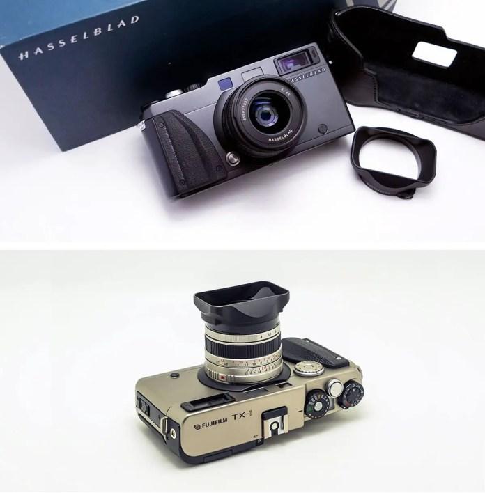 Hasselblad XPan and Fuji TX-1