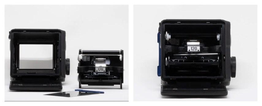 Mamyia 645 Pro 120 film back with 120 film insert