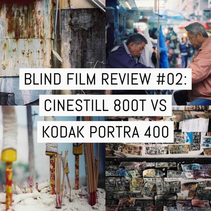 Cover - Blind film review #02- CineStill 800T vs Kodak Portra 400 (120 format)