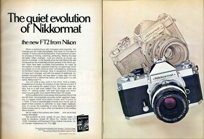 Nikon FT2 advert
