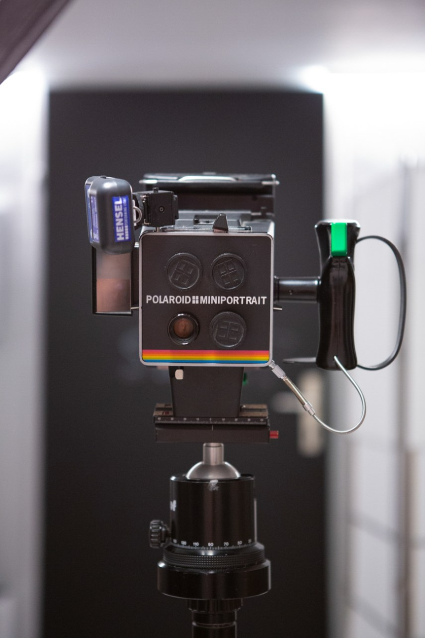 Polariod Miniportrait at the ready