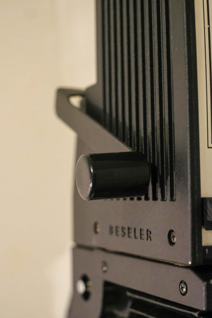 Budget darkroom - Beseler lamphouse elevating arm