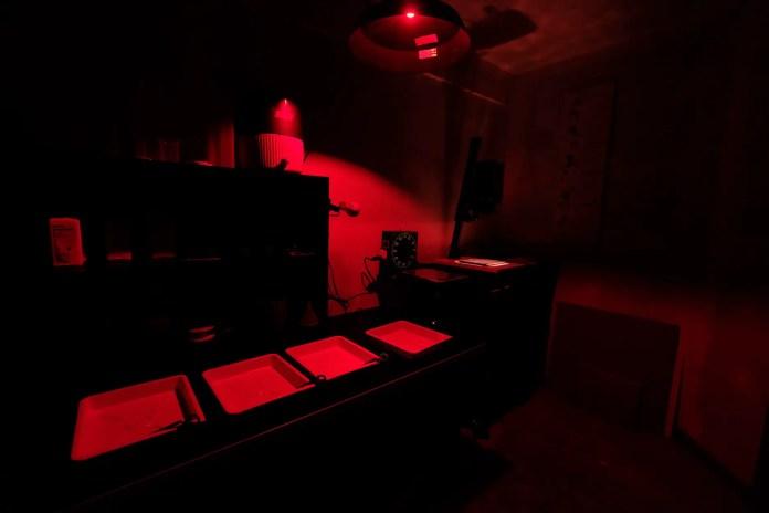 Budget darkroom - Darkroom safelight