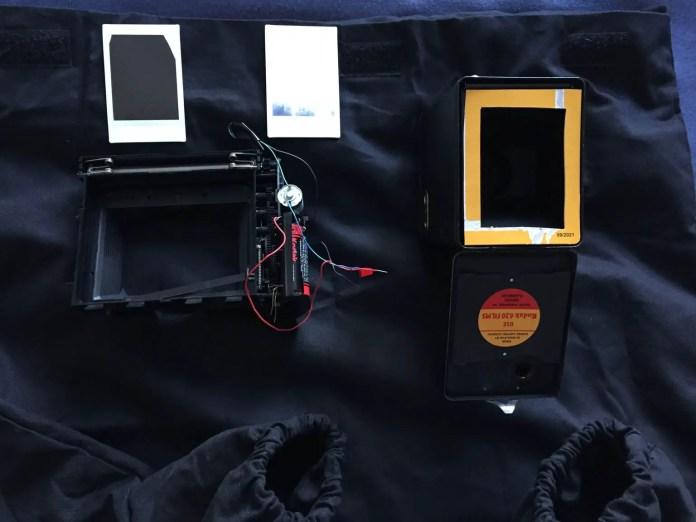 Changing bag + Box Brownie prototype
