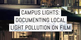 Cover: Campus lights - documenting local light pollution on film