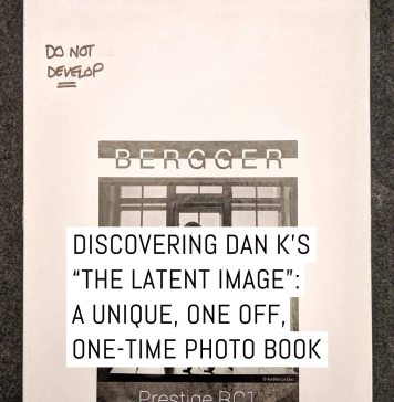 "Cover - Discovering Dan K's ""THE LATENT IMAGE"" - a unique one-off, one-time photo book"