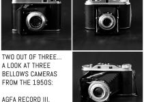 Two out of three. A look at three bellows cameras from the 1950s: Agfa Record III, Voigtländer Perkeo I, and Agfa Isolette