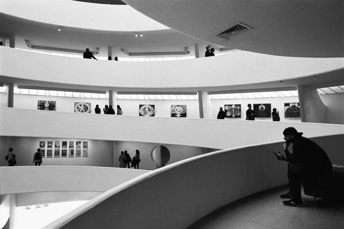The Guggenheim, Nikon F2AS, 28mm f/2.0 Nikkor N.C, Tri-X 400