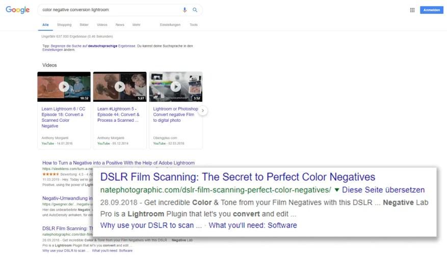 "Google search result: ""color negative conversion lightroom"""
