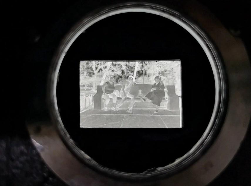 Through the lens mount