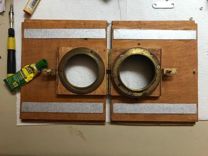 Lens boards (varnished)