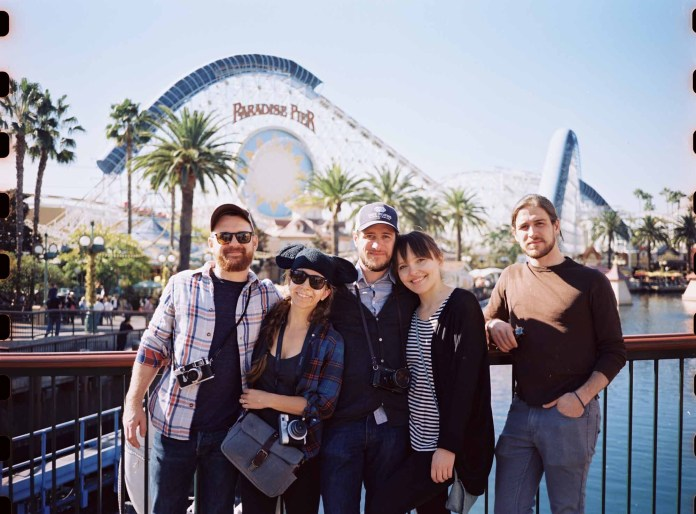 Brandon, Brian, Jen, Matt and Gia at Disneyland