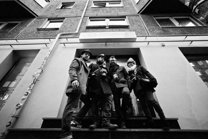 Brandon, Brian, Matt and Gia in Berlin