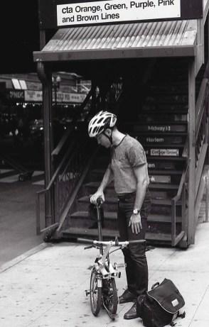 Following in Vivian Maier's footsteps - Fold up bike