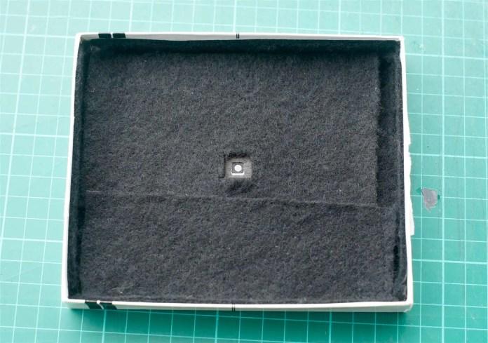 4x5 Pinhole build - Inside the lid