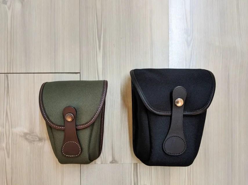 Billingham AVEA 7 and 8 end pockets side comparison (closed)