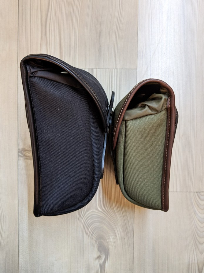 Billingham AVEA 7 and 8 end pockets side comparison (face-to-face)