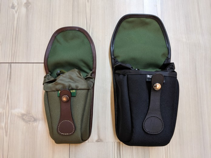 Billingham AVEA 7 and 8 end pockets side comparison (open)