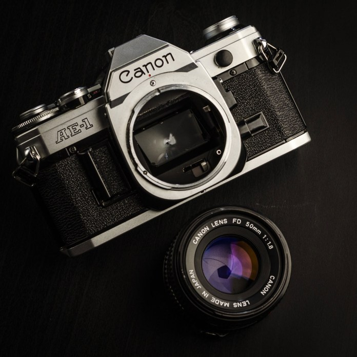 Canon AE-1 and 50mm f/1.8 lens