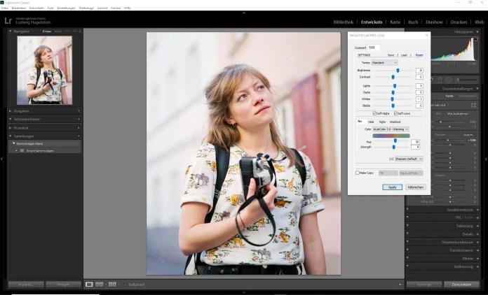 Fuji Pro 160NS EI 160, NLP Edit Interface