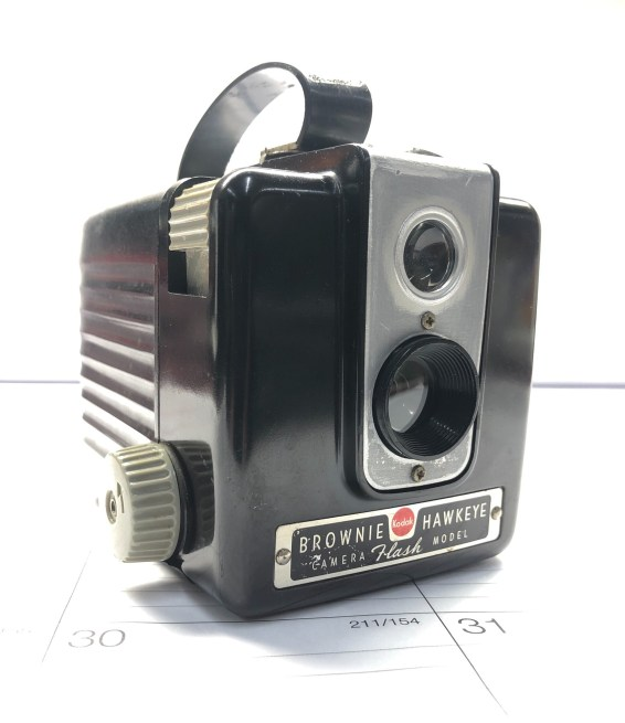 Brian Havican is shooting a Brownie Hawkeye Flash and Fomapan 100