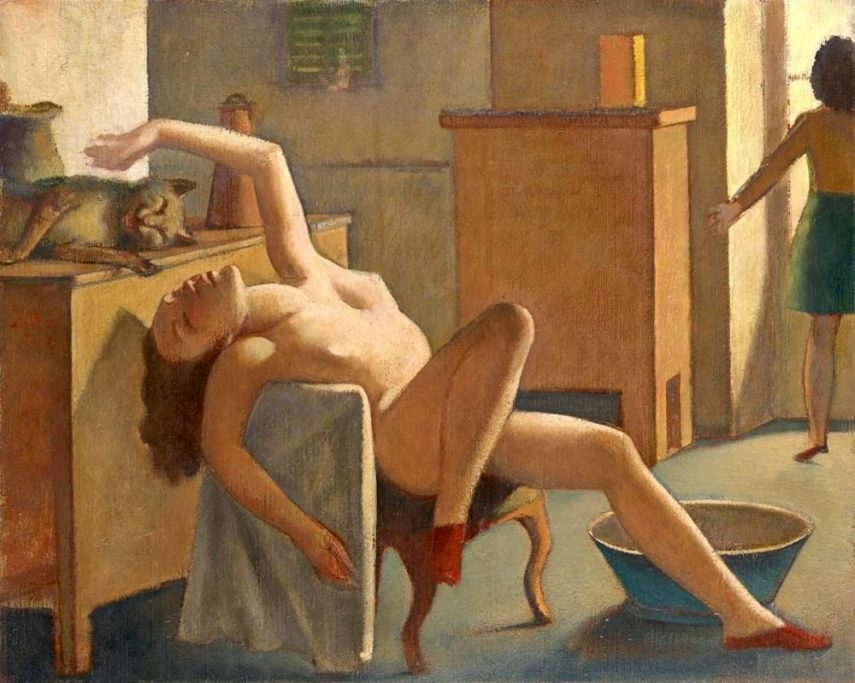 Bathus Nude with cat
