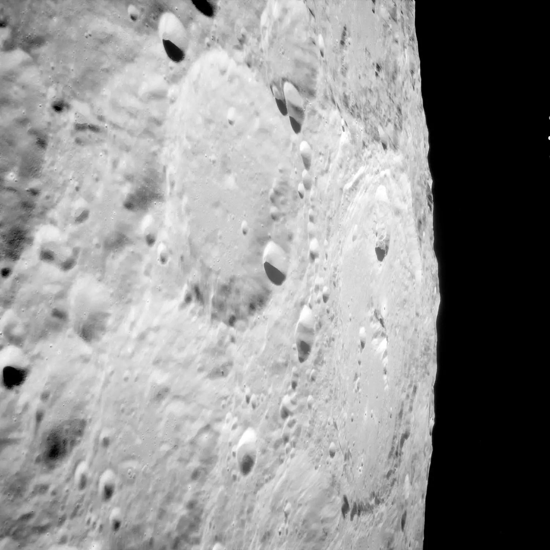 Keeler crater. Credit: NASA, NASA ID: AS11-38-5585