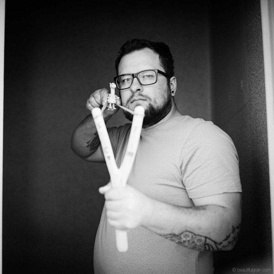 """From my """"The host"""" series. Kodak Tri-X 400, pushed to 1600, @f/2.8"""
