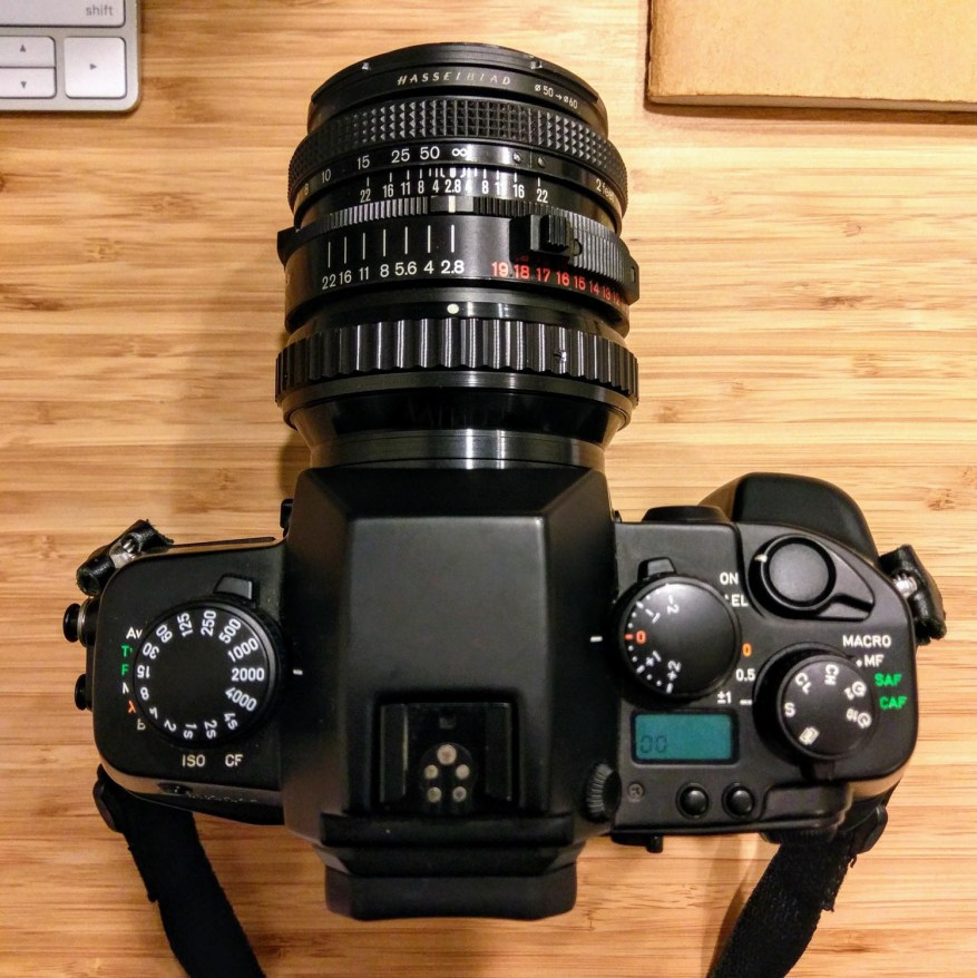 CONTAX AX with Hasselblad Zeiss Planar F 80mm f/2.8