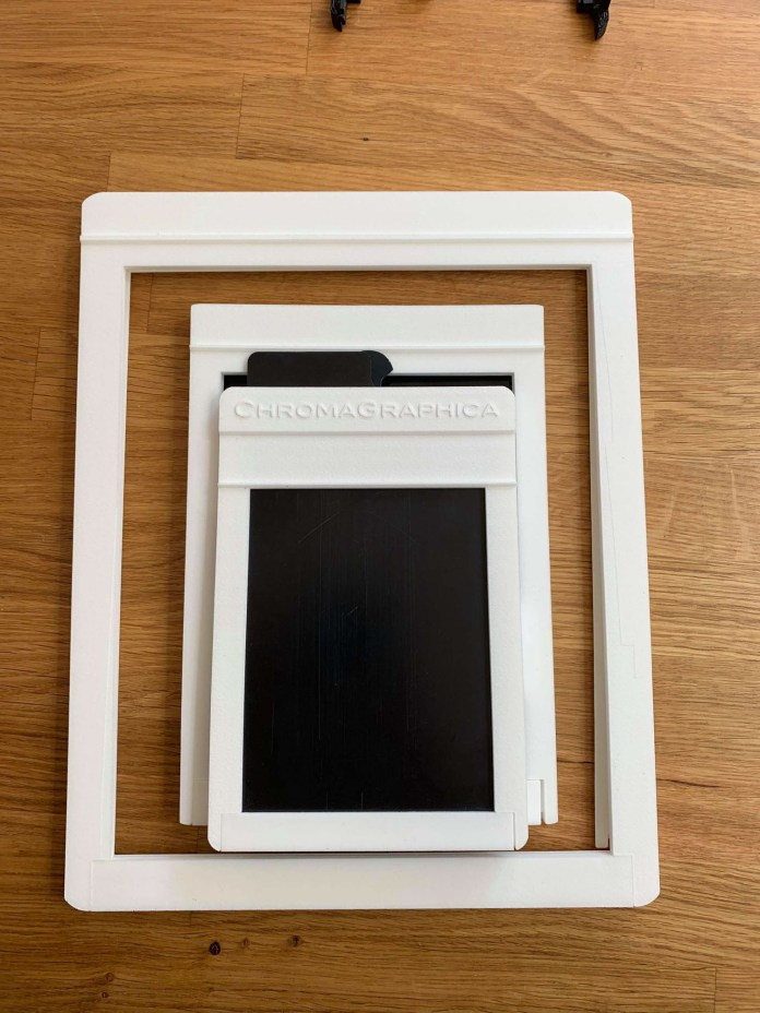 ChromaGraphica dry plate holder - early build tests (4x5, 5x7, 8x10)