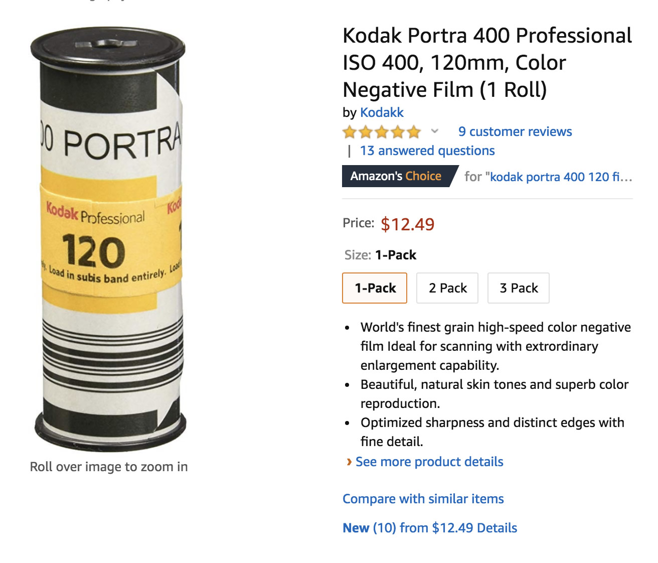 """120mm film"" online store listing"