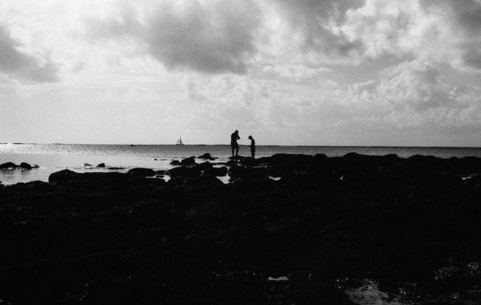 Father and son. Mauritius. Leica M3, Kodak T-MAX 100