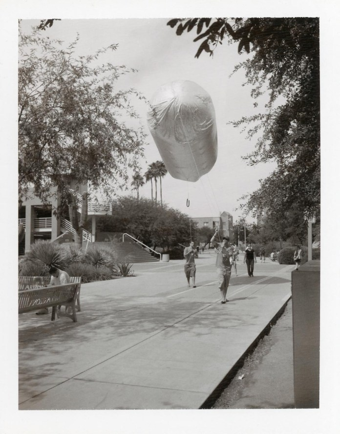Chipotle Burrito Blimp at the University of Arizona, Polaroid Type 667